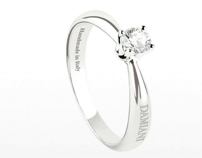Anello Solitario Damiani LUCE 20044993 diamante ring WEDDING diamond 0,25 kt F