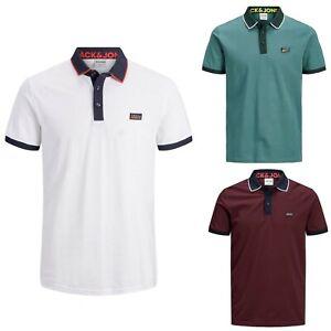 JACK&JONES Hombre Polo Camiseta Top TS Cuello 23161