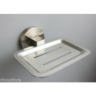 Grade 304 Stainless Steel Brushed Bathroom Wall Mounted Soap Dish Holder Plate