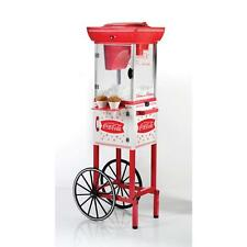 Coca-Cola Vintage Cart Snow Cone Maker Hawaiian Shaved Ice Cube Machine Slushy