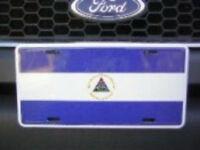Nicaragua Flag 6x12 License Plate Sign