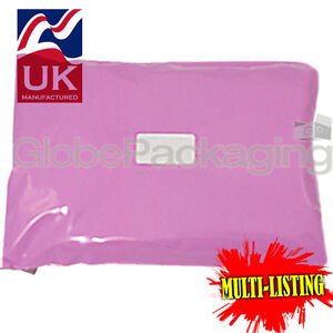 STRONG-PINK-POSTAL-PLASTIC-POSTAGE-POLY-MAILING-BAGS-MAILERS-ALL-SIZES-QTY-039-S