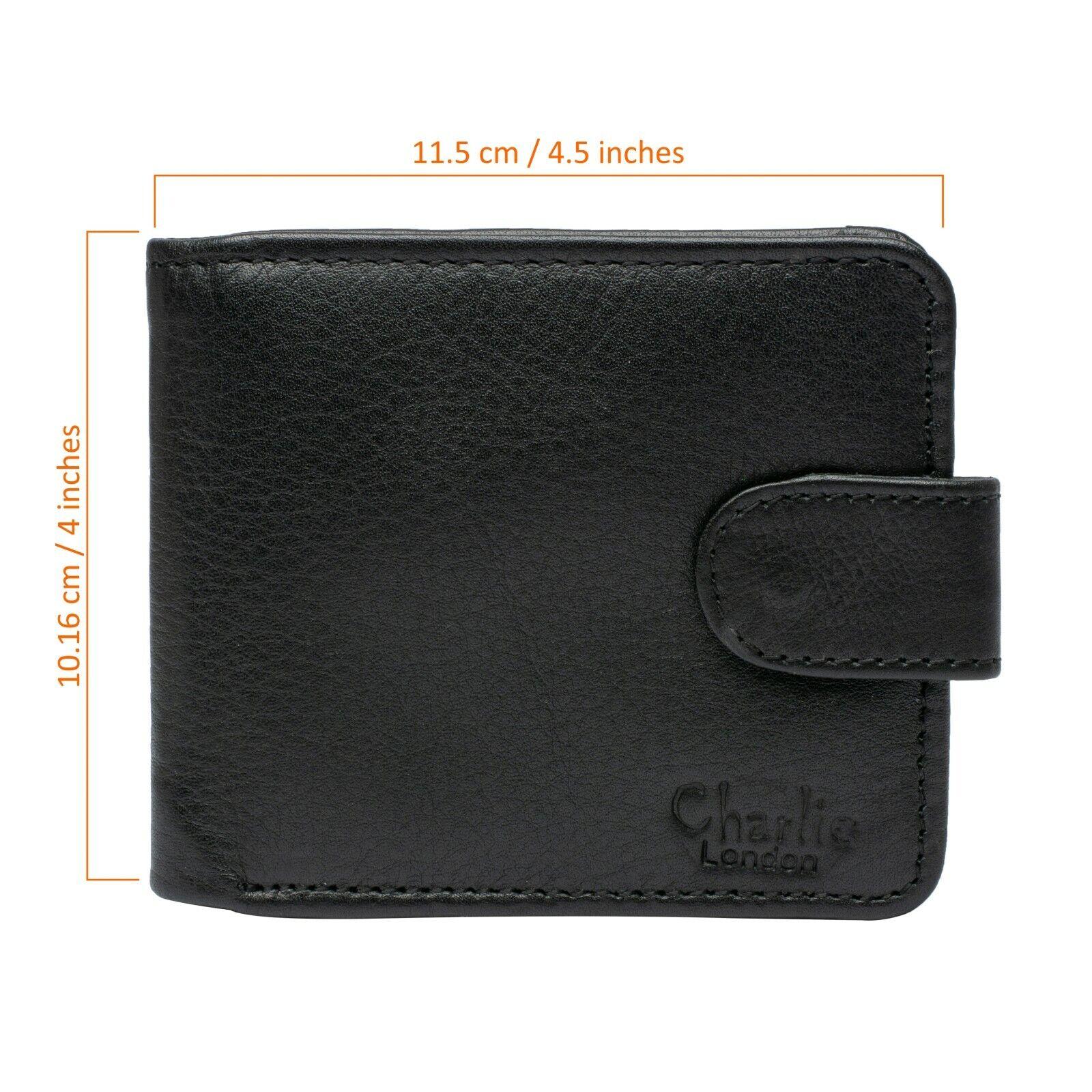 Black Bi fold Card Holder Wallet Real Leather Wallet for Men Gift For Him London