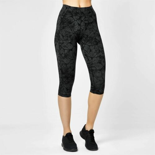 USA Pro Damen Training Leggings 3//4 Sporthose Fitness Capri Leicht Trainingshose