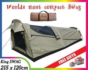 Oz-Wild-Rivers-KING-Single-SWAG-camping-equipment-gear-tents-head-torch-mattress