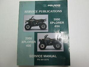 2000 polaris xplorer 400 4x4 service repair shop manual factory oem rh ebay com 2000 polaris xplorer 400 4x4 repair manual 2000 polaris xplorer 400 4x4 repair manual