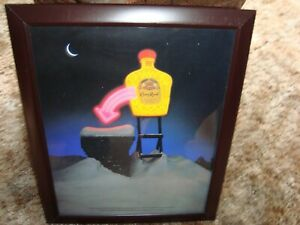 Framed Crown Royal Christmas Advertisement Neon sign Xmas bar picture ad chimney