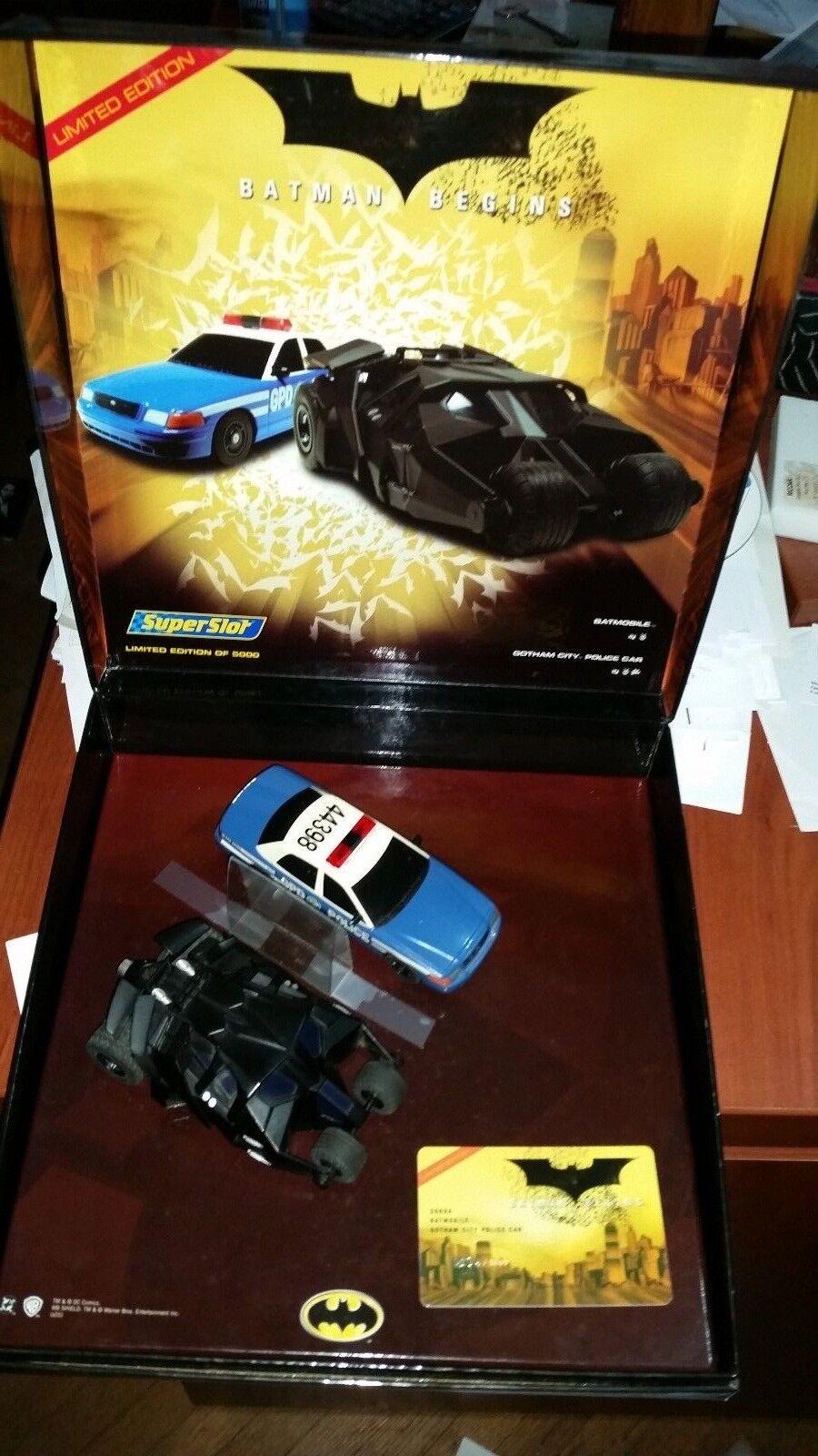 Scalextric Sport Batman Begins Limited Edition Slot Car Set MIB