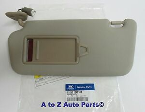 85210-1E421-OR OEM 2006-2011 HYUNDAI ACCENT LH DRIVER SIDE SUNVISOR IN BEIGE