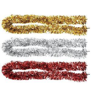 2m-a-trama-grossa-METALLIZZATO-decorazioni-6ply-spessore-Albero-di-Natale-Decorazione-Casa-Festa