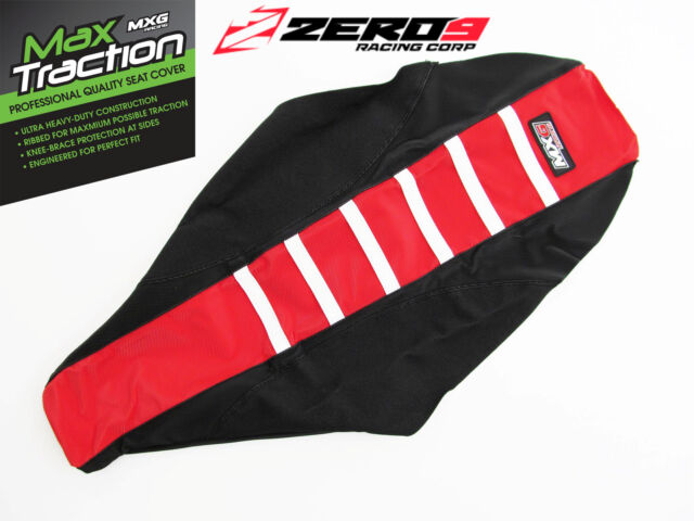 HONDA Ribbed Gripper Seat Cover Fits CR125/250 00-07 CRF450R 02-04 Red/Blk/White