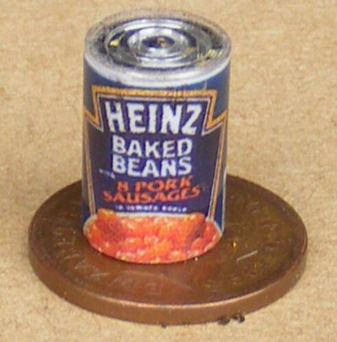 1:12 Maßstab Leerer Wurst /& Bohnen Dose Tumdee Puppenhaus Miniatur Zubehör Sa
