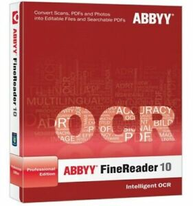 Abbyy finereader 10 professional edition paid by credit card