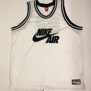 huge selection of 0122f aba1f Details about NIKE AIR #82 AF-1 Retro Basketball Jersey White/Black Men's  XXL RARE