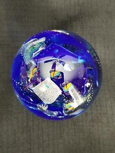 "1998 Gary Zack SUPERBE habitée sous-marin Studio Art Glass 3"" paperweight-afficher le titre d`origine nqBfAFam-09162336-992365941"