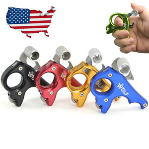 Steel Archery Release Aids 3 Finger Grip Thumb Caliper Compound Bow Adjustable