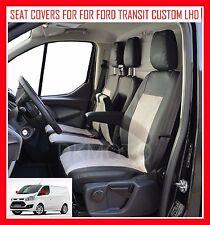 FORD TRANSIT CUSTOM Lhd Completamente su misura seat covers - in Similpelle + DELL' ALCANTARA