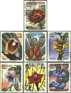 Laos-743-749-kompl-Ausg-gestempelt-1984-Blueten