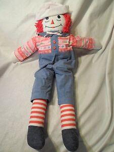 """Raggedy Ann Andy Rag Doll 22"""" Plush Soft Toy Stuffed Animal"""