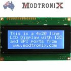 2004 Quality LCD Character Display Module, 20x4, White on Blue, Arduino/AVR/PIC