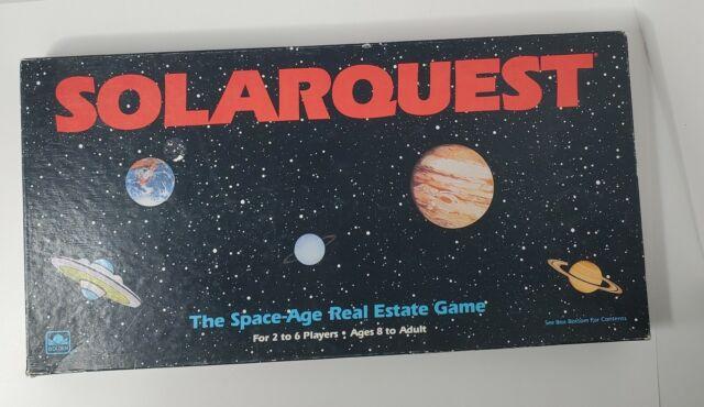 SolarQuest - Space Age Real Estate Board Game - Vintage (1986) - Golden - 99%
