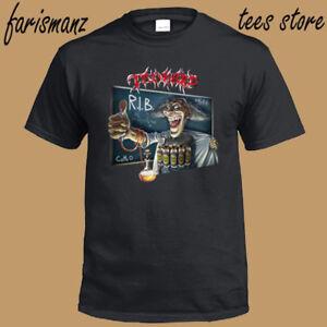 New-Tankard-R-I-B-Logo-Trash-Metal-Band-Men-039-s-Black-T-Shirt-Size-S-to-3XL