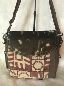New Myra Bag Pink Madness Shoulder Bag Genuine Leather Canvas Cow Hide Ebay Machen sie noch mehr leute auf sich. ebay