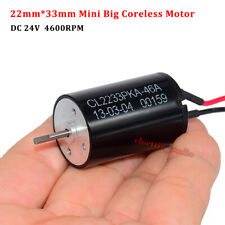 22mm33mm Mini Big Coreless Motor Dc12v 24v 4600rpm Large Torque Strong Magnetic
