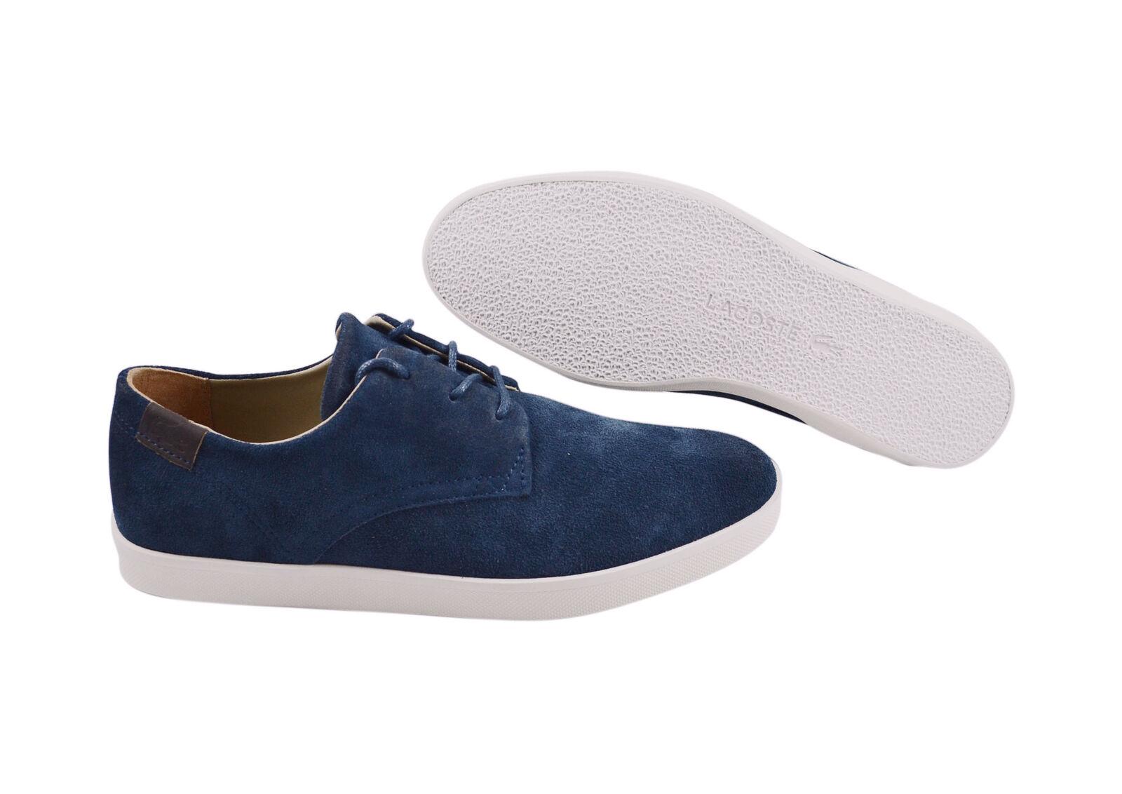 Lacoste Zimri blue 3 SRM dark blue Zimri Leder Schuhe/Sneaker Größenauswahl!! 6f18b6