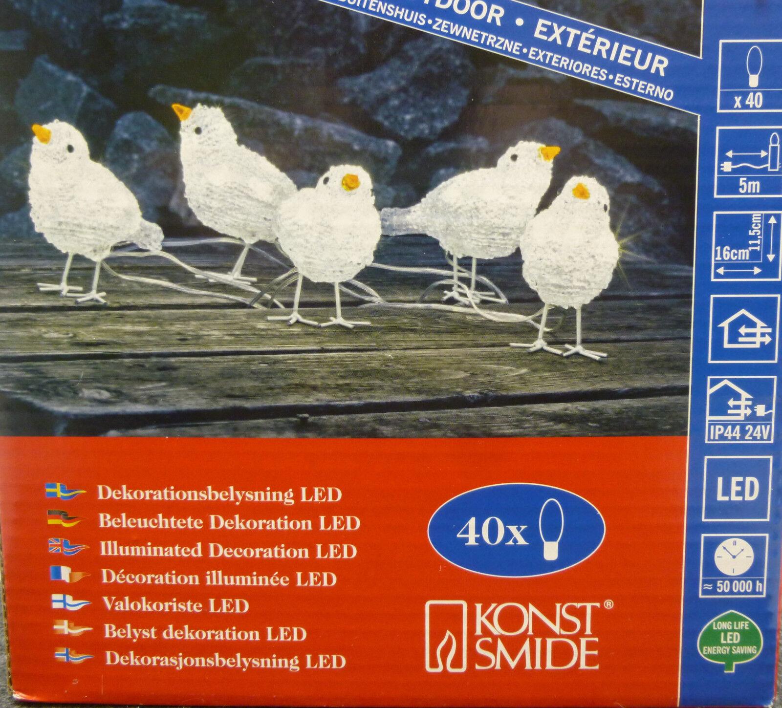 Konstsmide  Weihnachtsdeko Vögel Vogel LED Aussendeko 5 Vögel  | Bekannt für seine schöne Qualität