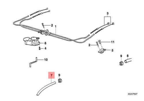 Genuine BMW E36 E38 Compact Sliding Lifting Roof Outlet Hose OEM 54128185083