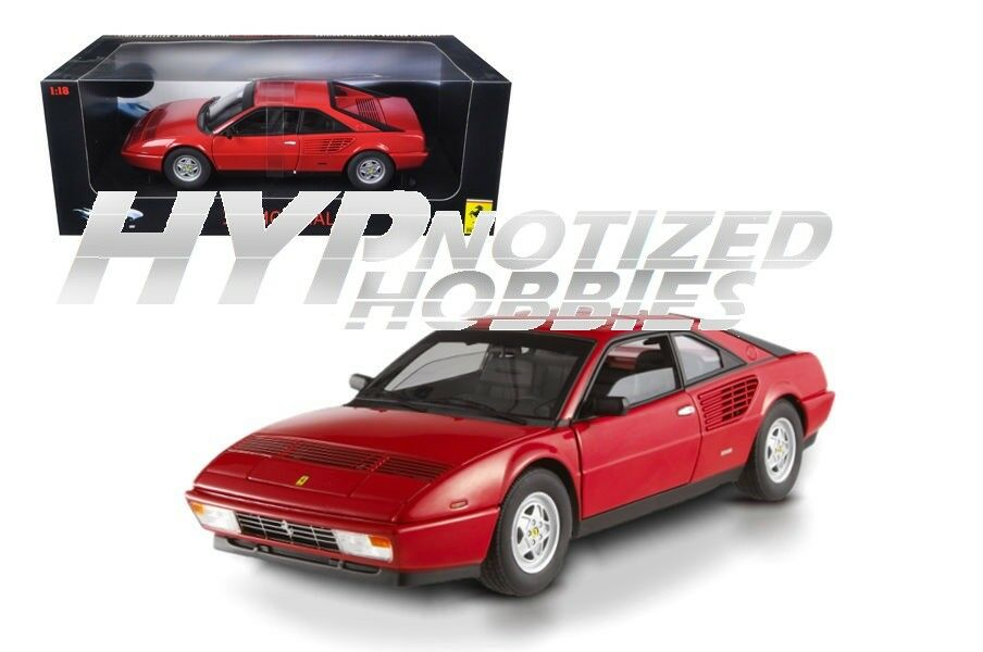 Hot Wheels 1 18 Elite Ferrari Mondial 3.2 Modellino rouge P9889