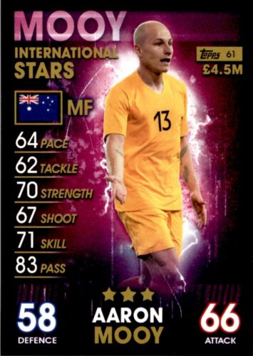 Topps Match Attax 101-Aaron Mooy Australie Star internationale No 61