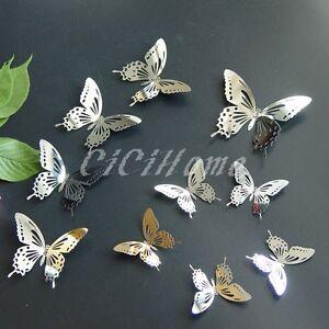 3D Butterfly Wall Art Metal