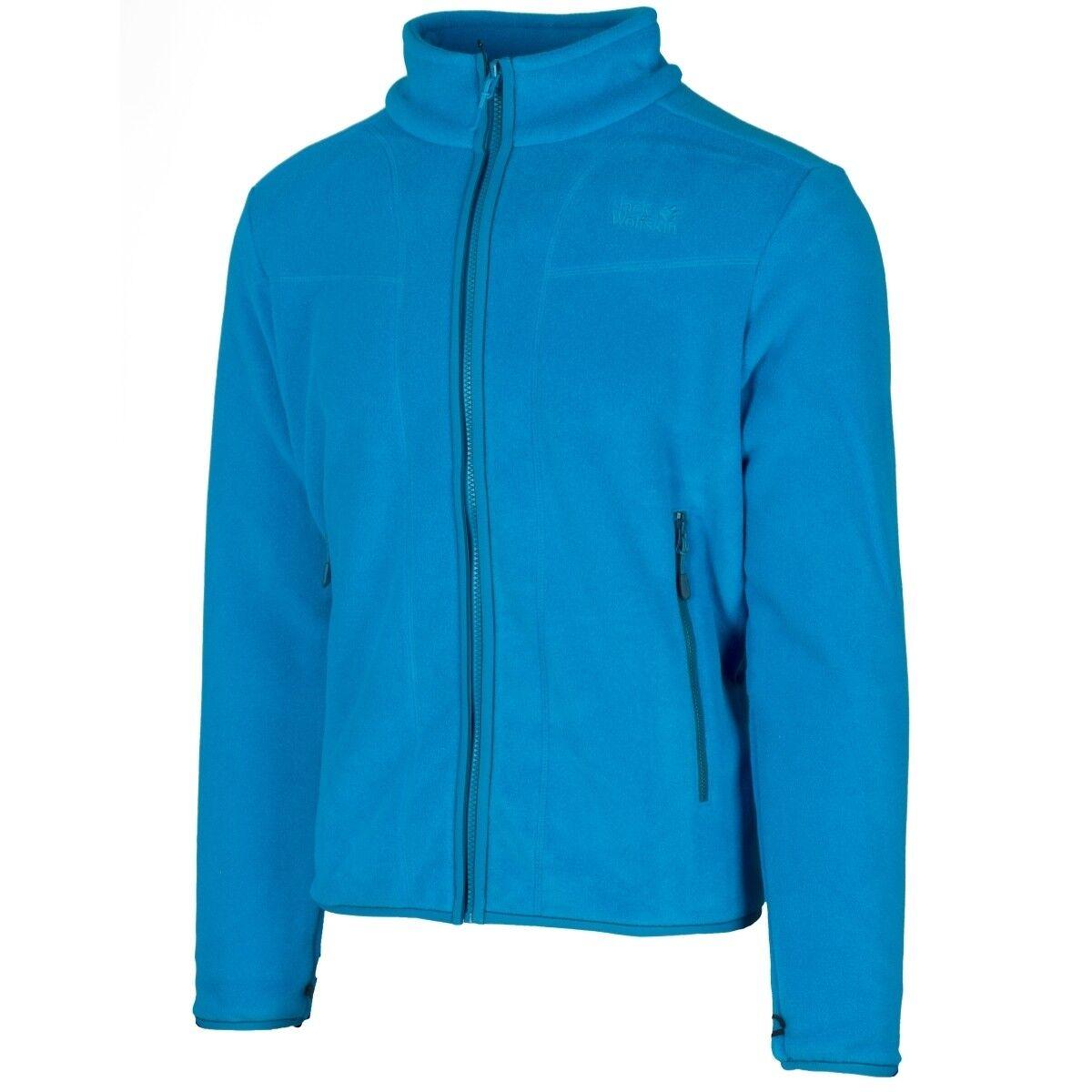 Jack Wolfskin Moonshine track Men Jacket outdoor Fleece chaqueta azul 1706951-1062