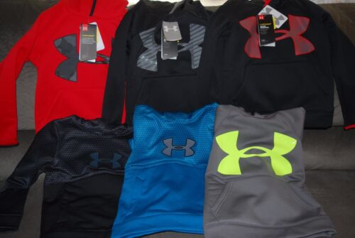 Under Armour YOUTH XS Storm Armour Fleece Highlight Logo Hoodie BRAND NEW