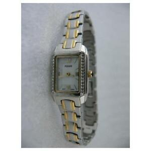 Pulsar-By-Seiko-Crystals-Two-Tone-Mother-of-Pearl-Dial-Women-039-s-Watch-PPGD57A-SD2