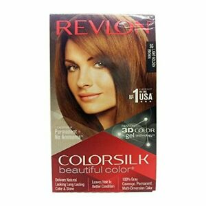 New-Revlon-Color-Silk-5-g-Light-Hair-Color-Golden-Brown-100-ml-Free-Shipping