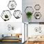 naumoo metal hexagon floating shelves - wall mounted wire hexagon shelves