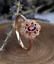 1-6ct-Oval-Cut-Red-Garnet-Engagement-Ring-14k-Rose-Gold-Finish-Vintage-Milgrain thumbnail 2