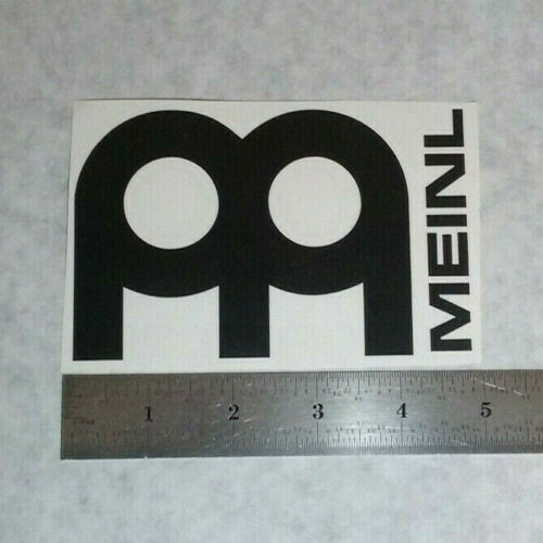 MEINL Cymbals Vinyl DECAL STICKER BLK//WHT//RED Logo Window Drums Percussion
