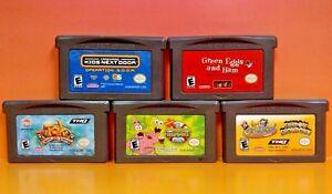 Dr Seuss, Tak, Spongebob, Odd Parents, Kids Next Door Nintendo Game Boy Advance