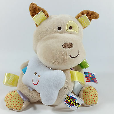 Taggies Early Years Puppy Dog Chime Vibrate Sensory Baby Plush Toy Rattle