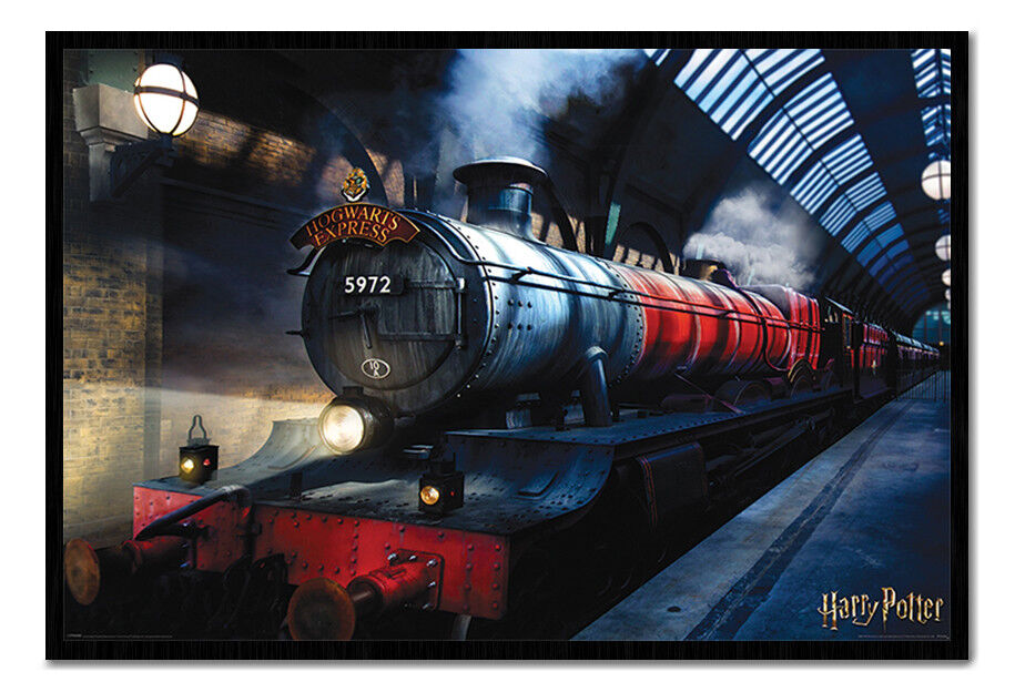 Harry Potter Hogwarts Express Poster Framed Cork Pin Board With Pins