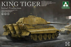 Takom 1/35 King Tiger Production Initiale (4 En 1) Wwii Char Lourd Allemand # 02096