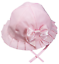 Baby SUN HAT bonnet flower BOW Romany traditional cotton rich chin strap