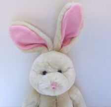 "Plush Bunny Rabbit Stuffed Animal Toy 18"" Long Pink Ears So Cute and Soft! EUC!"