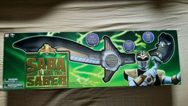 Mighty Morphin Power Rangers Legacy White Ranger Talking Tiger Saba Saber Sword