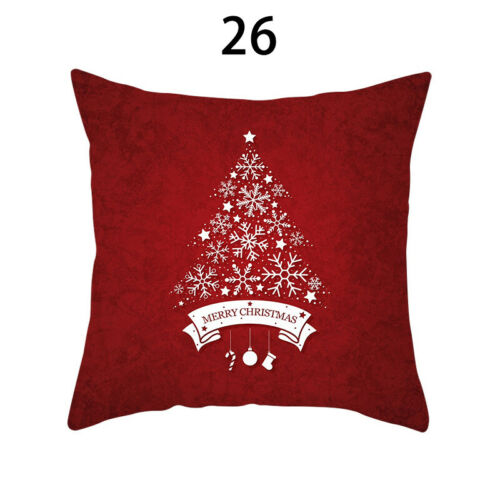 45cm Square Merry Christmas Throw Pillow Case Car Cushion Cover Sofa Decor 06CA