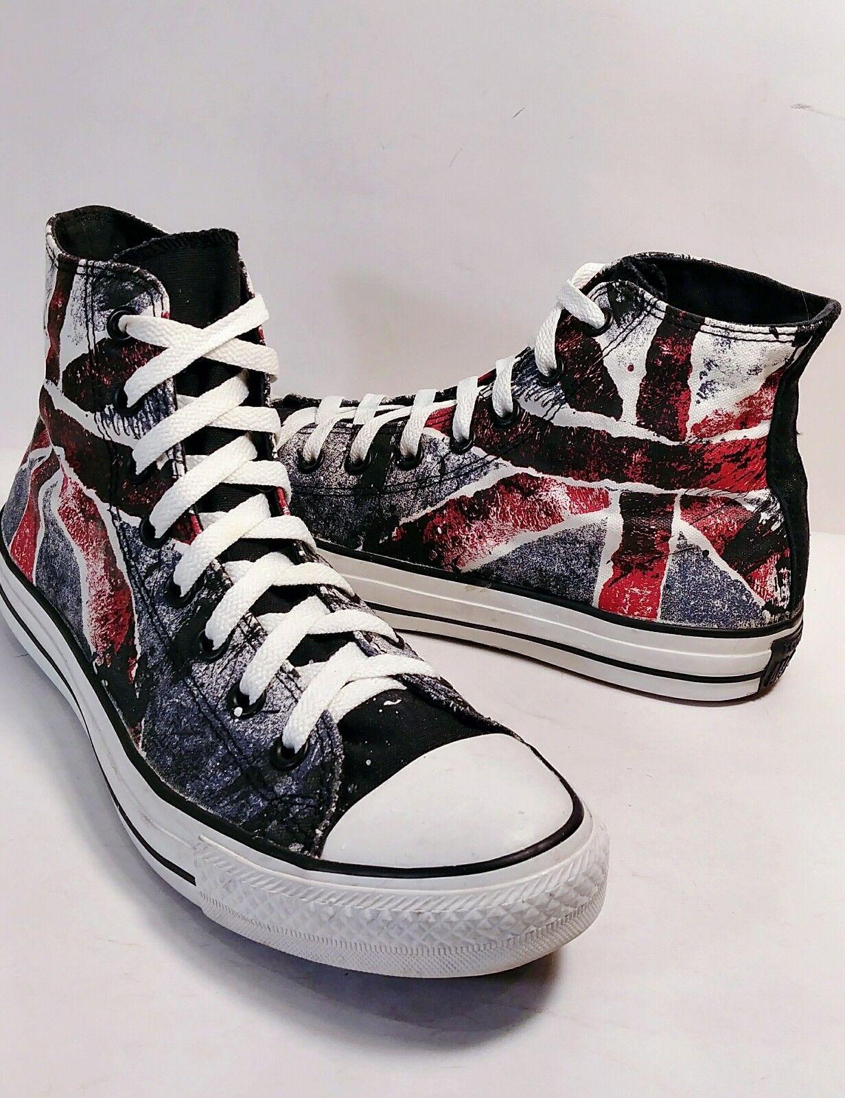CONVERSE Chuck All Star HiTop UNION JACK British Flag Sneakers Men 4.5 Women 6.5